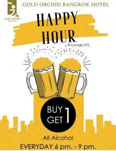 Happy Hour Buy1Get1 @Lounge375